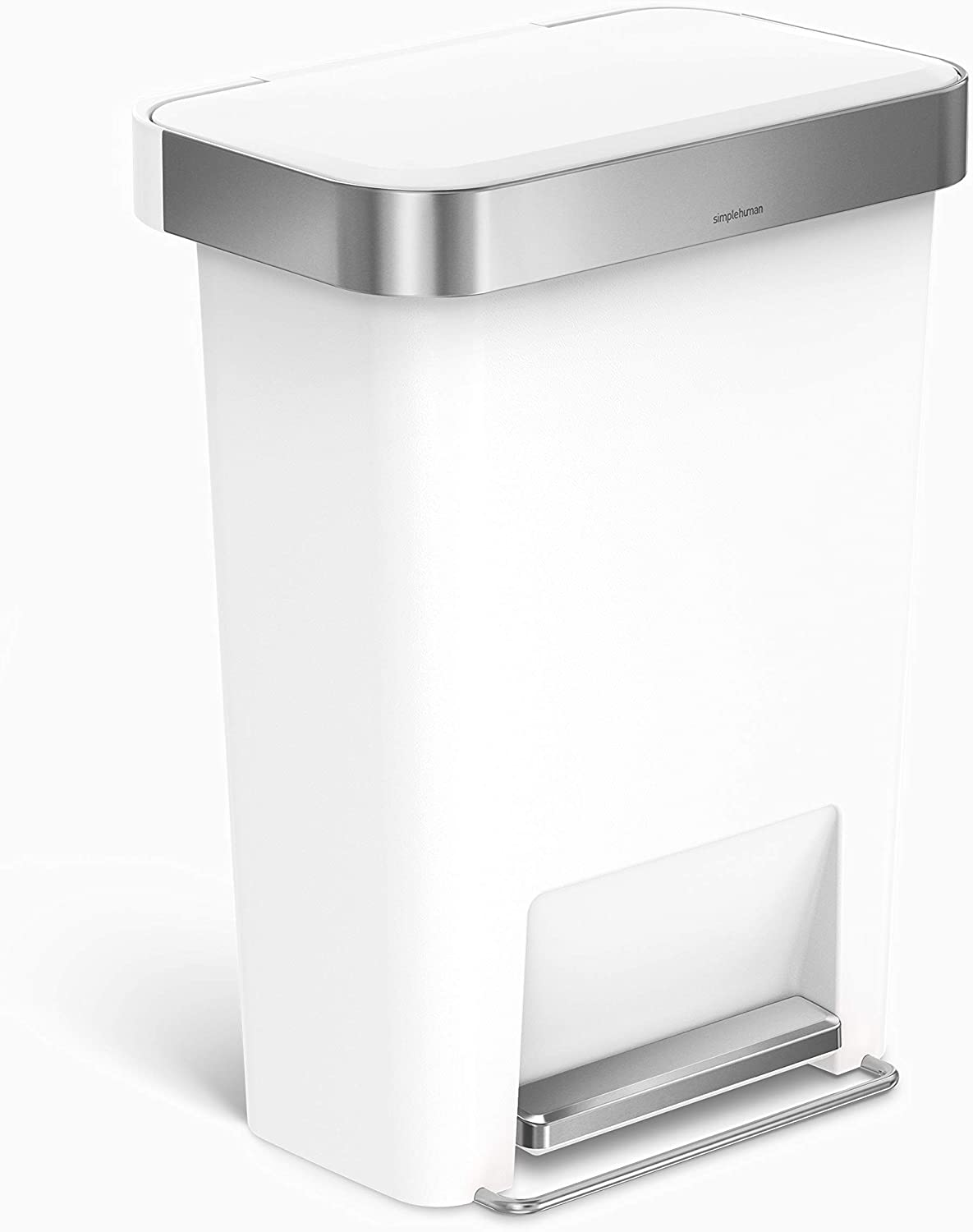 simplehuman 45 Liter Rectangular Kitchen Sof Under blast sales Step with Trash Can Beauty products