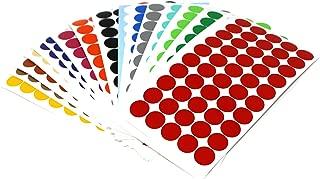 TE-Office 4000 St/ück Etiketten Runde Klebepunkte Rolle Bunt Markierungspunkte Aufkleber Punkte 15mm /Ø Abl/ösbar Rot