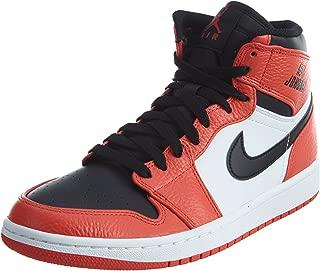 Nike Mens Air Jordan 1 Retro High Basketball Shoe Max Orange/Black 10.5