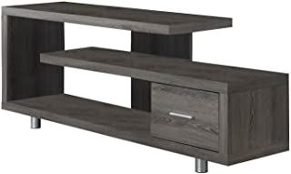 Monarch Specialties Dark Taupe with 1 Drawer TV Stand, 60""