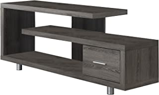 Monarch Specialties I 2574 Dark Taupe with 1 Drawer TV Stand, 60