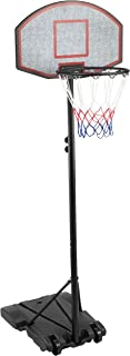 KLB Sport Youth Portable Basketball Hoop System Height Adjustable Basketball Stand for Kids Indoor Outdoor w/Wheels,  28 Inch Backboard
