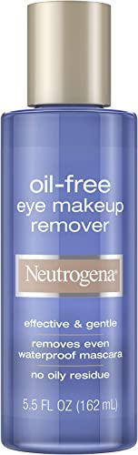 Neutrogena Oil-Free Liquid Eye Makeup Remover, Residue-Free, Non-Greasy, Gentle & Skin-Soothing Makeup Remover Soluti...