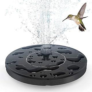 Upgraded Solar Fountain Pump Free Standing 1.5W Bird Bath Water Fountain Pump for Pond, Pool, Garden, Fish Tank, Aquarium,...