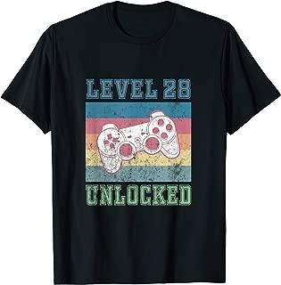 28th Birthday Shirt Men Son Gifts 28 Year Old Daughter Women T-Shirt