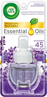 Air Wick Scented Oil Air Freshener, Lavender and Chamomile, 1 Refill, 0.67 Ounce (Pack of 8)