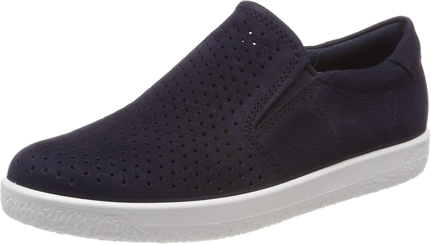 ECCO shoes Women's Soft 1 Slip on Perf Fashion Sneakers, Night Sky, 36 EU  5.5-6 M US