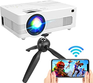 """[WiFi Projector] Upgraded 6500Lumens Projector, Full HD 1080P Supported Mini Projector [Tripod Included], Max 200"""" Displa..."""