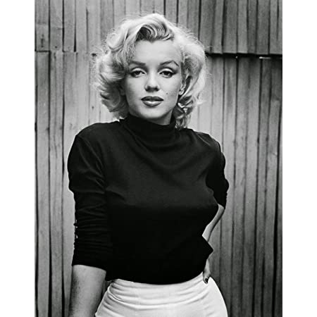Marilyn Monroe Red Lips Portrait Stretched Art Canvas Movie Poster Print Model
