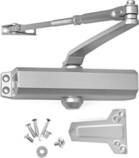 Door Closer Grade 2 Medium Duty, Surface Mounted, Cast Aluminum, for Residential and Light Commercial Applications doorways (Aluminum (AL)) by Lawrence Hardware LH534