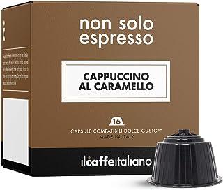 FRHOME - 48 Capsules compatibles Nescafè Dolce Gusto Cappuccino au Caramel - Il Caffè Italiano