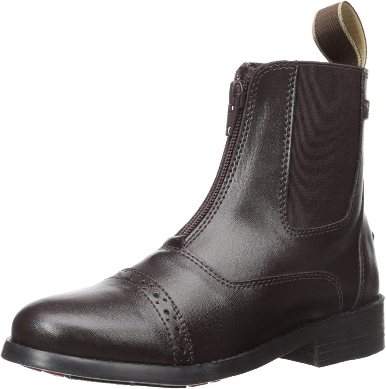 Equistar - Child's Zip Paddock Boot (All Weather) 4 Brown