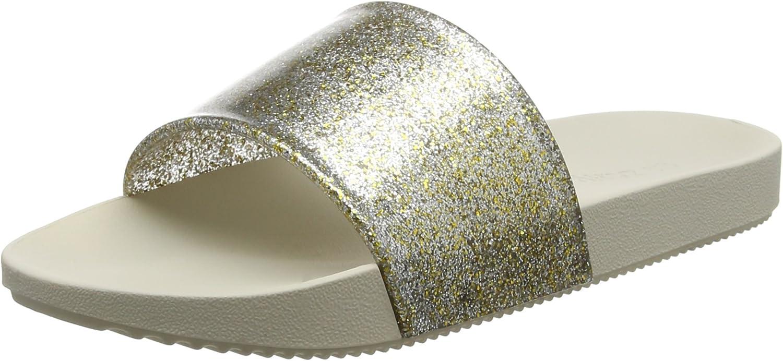 Zaxy Womens Sandals Snap Glitter Beach Slide/Flip Flop