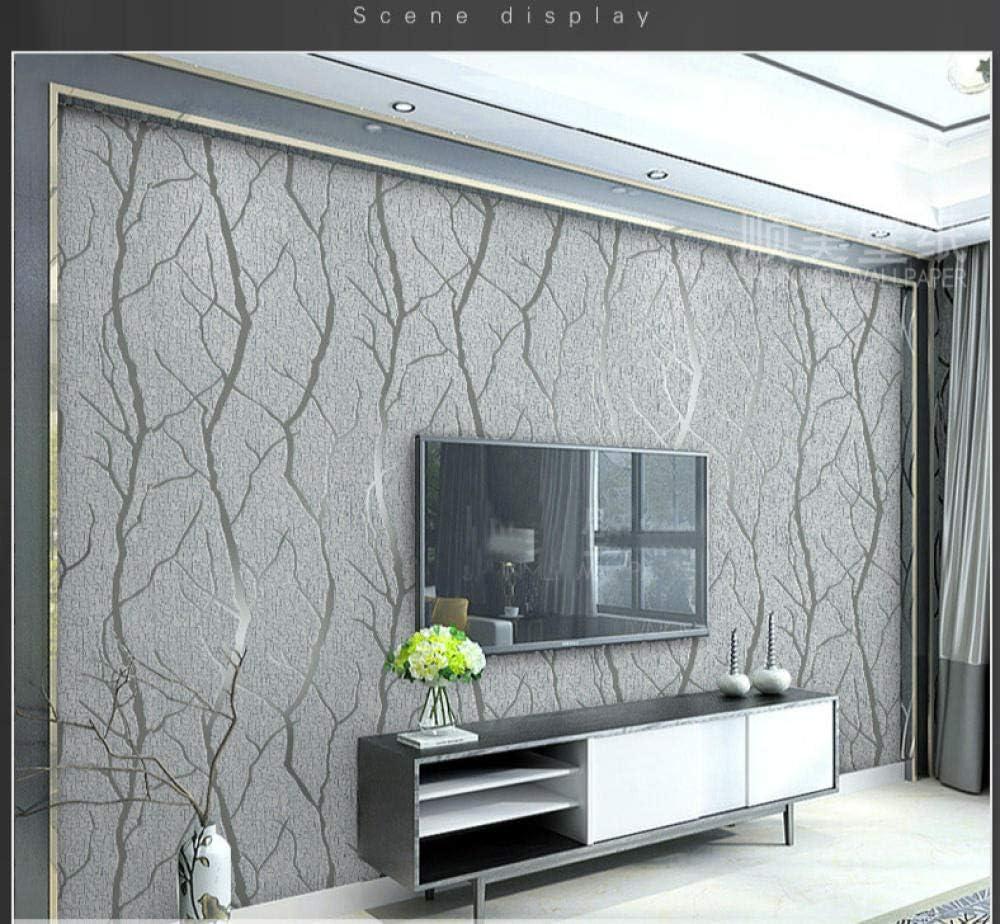 Fybsndy 3d Mural Grey 3d Embossed Crushed Velvet Wallpaper Luxury Bedroom Living Room Wall Decor Wall Paper Flocked Brown 450cmx300cm Amazon Co Uk Diy Tools