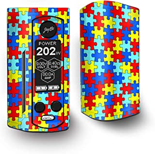 IT'S A SKIN Decal Vinyl Wrap for Wismec Reuleaux RX Gen3 Dual Vape Sticker Sleeve/Colorful Puzzle Pieces Autism