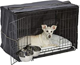 MidWest iCrate Starter Kit | The Perfect Kit for Your New Dog Includes a Dog Crate, Dog Crate Cover, 2 Dog Bowls & Pet Bed...