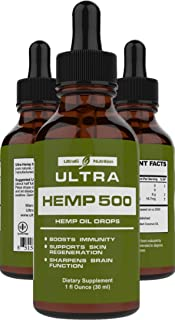 Hemp Oil for Pain Relief - Best Hemp Oil 500mg. Helps with Anxiety, Sleep, Pain, Stress, and Overall Mood - Best Hemp Oil ...