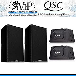 QSC K10.2 10-Inch Powered Speakers (2) with Tote Bags