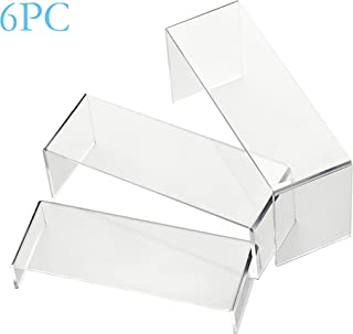 IHOMECOOKER 6 Pc Clear Acrylic Display Risers Showcase for Shoe Risers Retail Stand Cupcake Stand Dessert Stand …