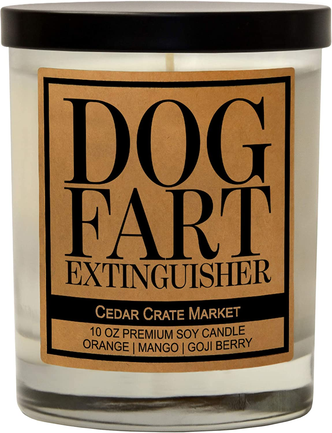 Funny Dog Candles for Dog Lovers, Dog Gifts for Dog Lovers Dog Mom Gifts for Women, Pet Mom, Fur Mamas, Dog Dads, Foster, Rescue, Adoption. Scented, Soy Jar Candle, 10 oz. (Dog Fart Extinguisher)