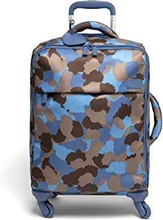 Lipault - Original Plume Spinner 55/20 Luggage - Carry-On Rolling Bag for Women - Camo/Icy Blue/Taupe