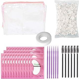 GreenLife eyelash extension kits 100 Pcs eyelash extension Pads + 100 Pcs eyelash brushes + 100 Pcs micro brush + 100 Pcs ...
