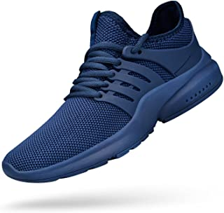 Men's Non Slip Gym Sneakers Lightweight Breathable...