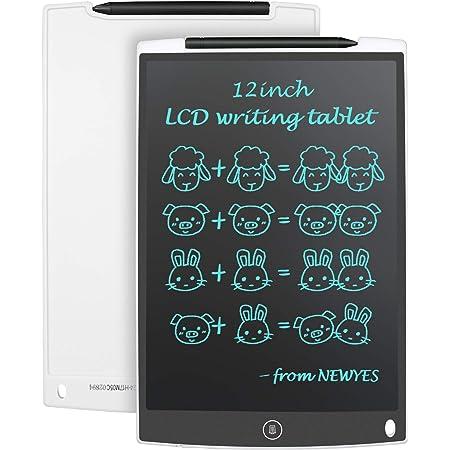 Zwbfu Tavoletta LCD da 8 pollici portatile Tavolino da disegno elettronico ultrasottile Rilievo riutilizzabile della scrittura a mano con penna stilo Pulsante Cancella Regalo per bambini Studenti Adu