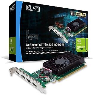 ELSA GeForce GT 730 2GB QD DDR5 グラフィックスボード [HDMI1.4×4 4画面同時出力対応 1スロット] GD730-2GERQDD5 VD7303