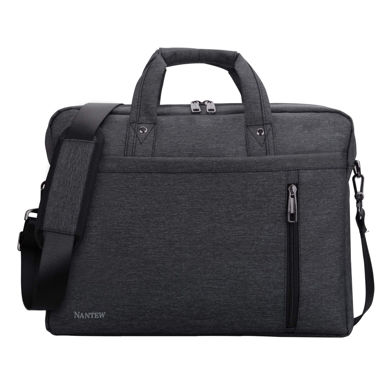 ビジネスバッグNantewメンズビジネスバッグブリーフケース多機能 メンズハンドバッグ防水 大容量ショルダーバッグ 通勤 出張メッセンジャービジネスバッグ15.6 17.3インチメンズレディースPCバッグ