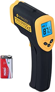Etekcity Lasergrip 1080 Non-contact Digital Laser Infrared Thermometer  -50 C 550 C -58 F 1022 F Yellow Black