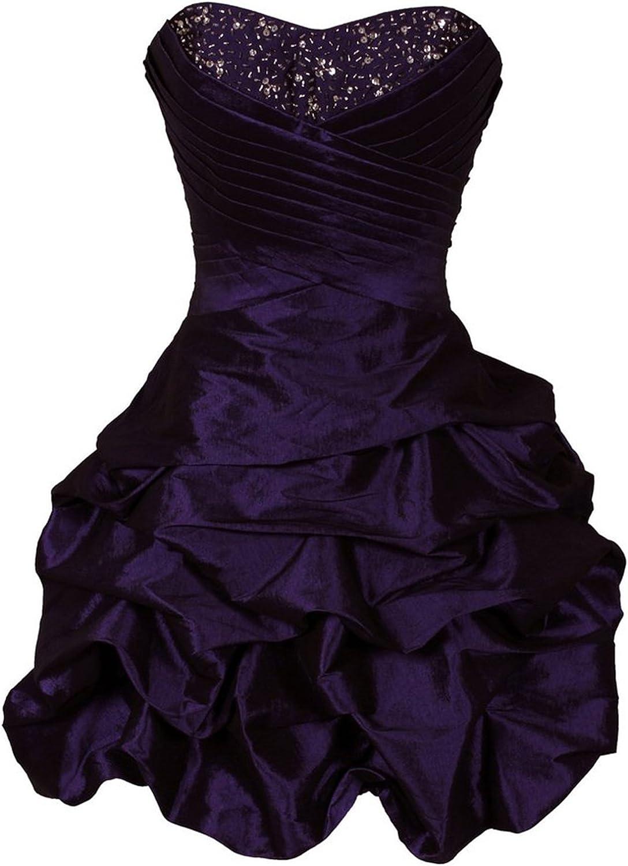 KAY&LAYLA Women's Short Prom Beaded Taffeta Mini Bubble Party Dress SLFD055