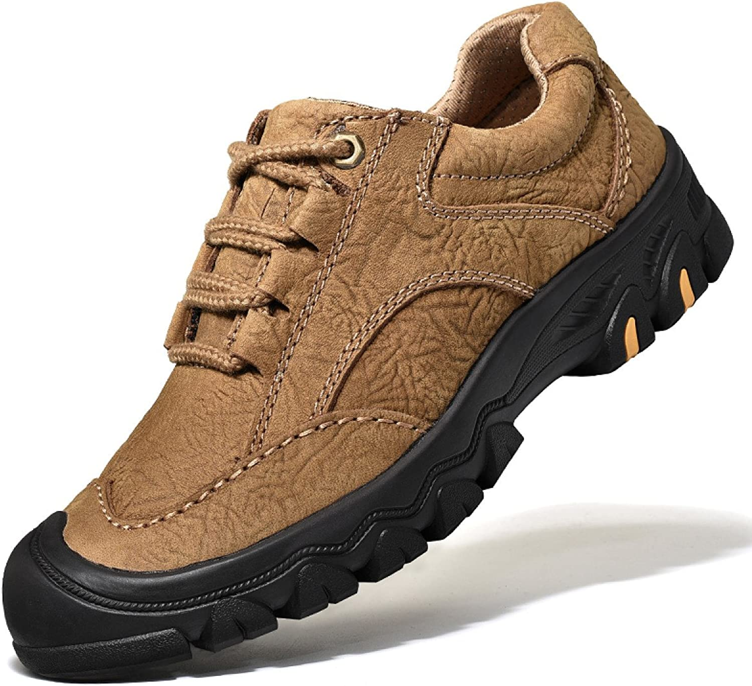 Outdoor Men's shoes Hiking shoes Rubber Sole Camouflage Running shoes Smooth Shock-Absorbing Quick-Drying,Brown-a-40