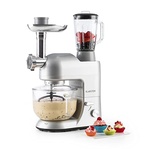Klarstein Lucia Argentea 2G • Robot de cocina universal • Batidora • 1200 W • 5