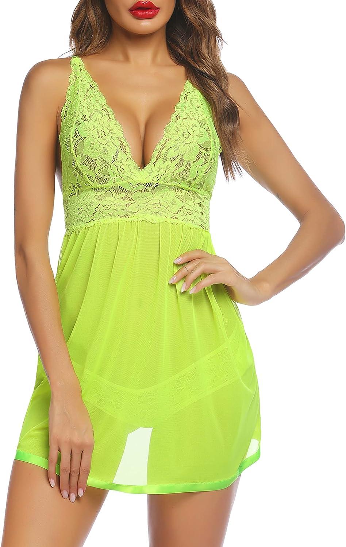 Avidlove Women Cheap super Wholesale special price Lingerie Lace Babydoll Halter Chemise Teddy Strap