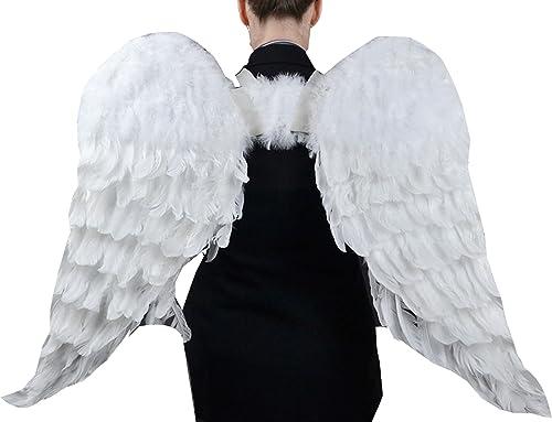 Touch of Nature 11008 wachsene Engel Flügel in Weißmit Gummib ern, 43 n 68,6cm