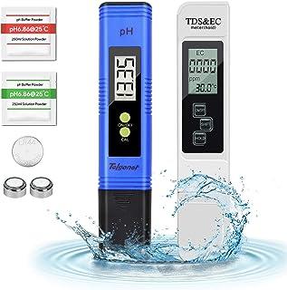 Telgoner pH Medidor, Alta Precisión EC y TDS 2 en 1 Kit, Medidor Digital