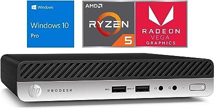 HP EliteDesk 705 G4 Mini PC, AMD Ryzen 5 2400GE Upto 3.8GHz, 8GB RAM, 128GB NVMe SSD, DisplayPort, Wi-Fi, Bluetooth, Windo...