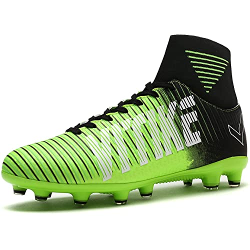 Littleplum Soccer Cleats Shoes Football Boots Cleats High-top Sock Shock  Buffer Outdoor 483c6a1ef4f25