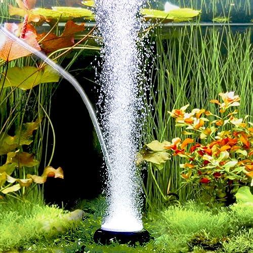 hygger Aquarium Air Stone, Bubble Stone Fish Tank Oxygen Stone Ultra Silent Deep Dissolving Oxygen Diffuser Kit for A...