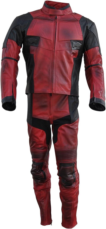 Classyak Men's DP Real Leather Motorbike Jacket & Pant