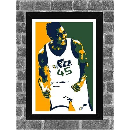 Geschenk Utah Jazz #01 gedrucktes Autogramm Donovan Mitchell Autogramm Kunstdruck