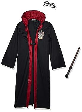 New Harry Potter Child's Costume Robe Wand Glasses Set