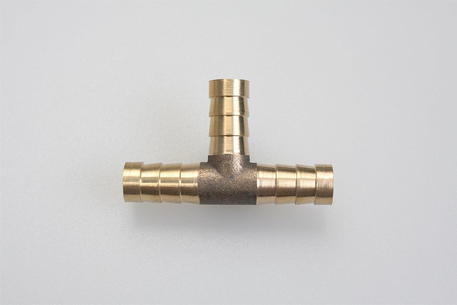 良心ちなみに磨かれた真鍮銅 T型ホースジョイントパイプ スリーウエイ外径6mm