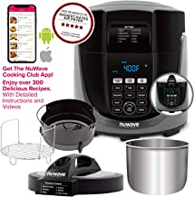 NUWAVE DUET Pressure Air Fryer, Combo Cook Technology, Removable Pressure and Air Fry Lids, 6QT Stainless Steel Pot, Stain...