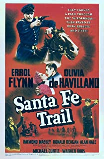 Posterazzi Santa Fe Trail Top Center from Left: Olivia De Havilland Errol Flynn On Midget Window Card 1940 Movie Masterprint Poster Print (11 x 17)