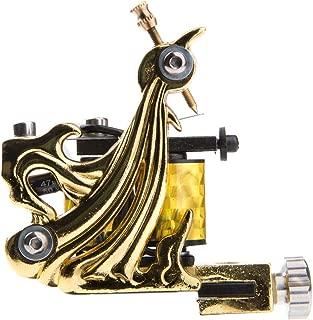 1TattooWorld Premium Copper Wire Coils Tattoo Machine Liner & Shader, Gold, OTW-M036-1