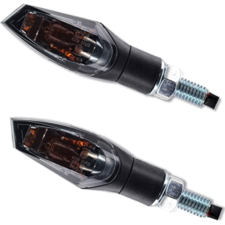 Halogen Mini Blinker Schwarz Getönt Universal Für Motorrad Roller Quad 12v 6w M10 95mm Inkl E Nummer Citomerx Auto