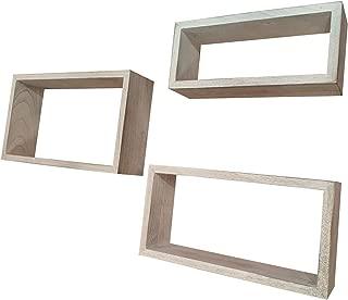 floating box shelves white