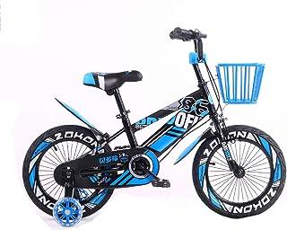 Kids' Bikes 12/14/16/18 Inch Unisex Girl's Boy's Kids Children Bike Bicycle with Training Wheels, Iron Basket, Handbrake a...